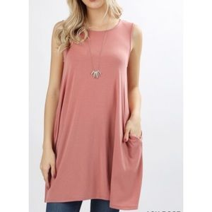 📣$5.00 Sale📣 Ash Rose top with side pockets
